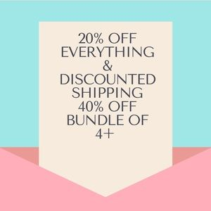 20% Off Everything Discounted Shipping 40% off 4+